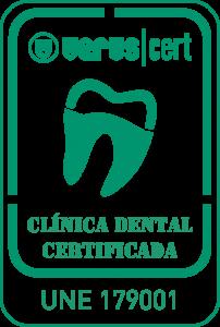Marca VERUS Clínica Dental Certificada UNE 179001