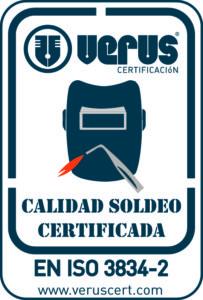 Certificación ISO 3834